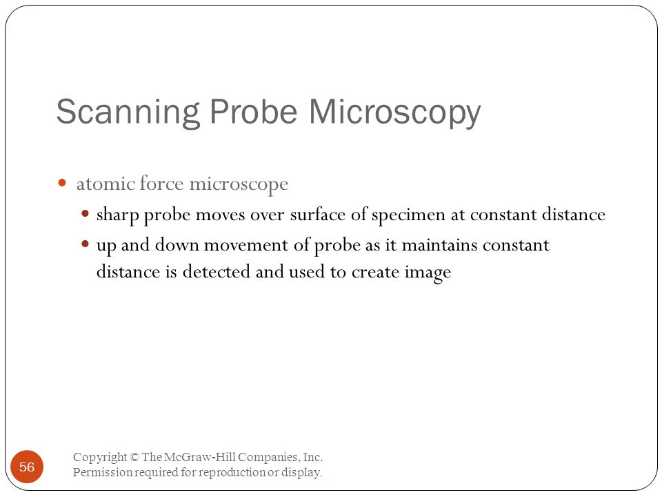 Scanning Probe Microscopy Copyright © The McGraw-Hill Companies, Inc.