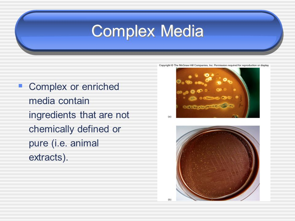 Synthetic Media  Synthetic media contain pure organic and inorganic compounds that are chemically defined (i.e. known molecular formula).