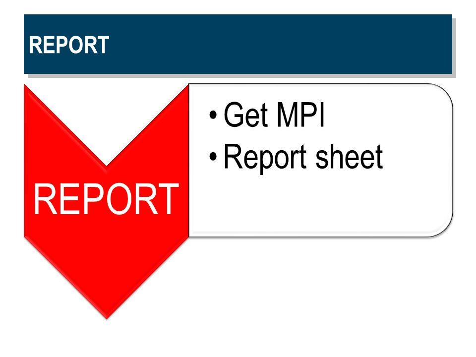REPORT Get MPI Report sheet
