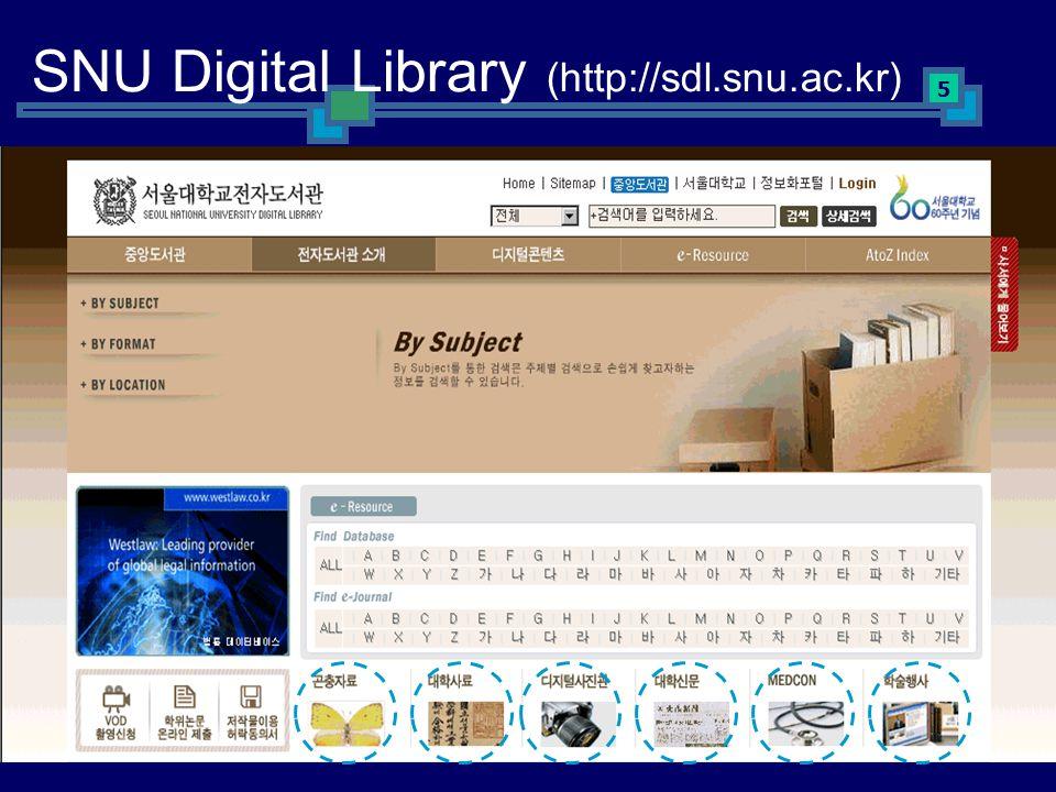 5 SNU Digital Library (http://sdl.snu.ac.kr)