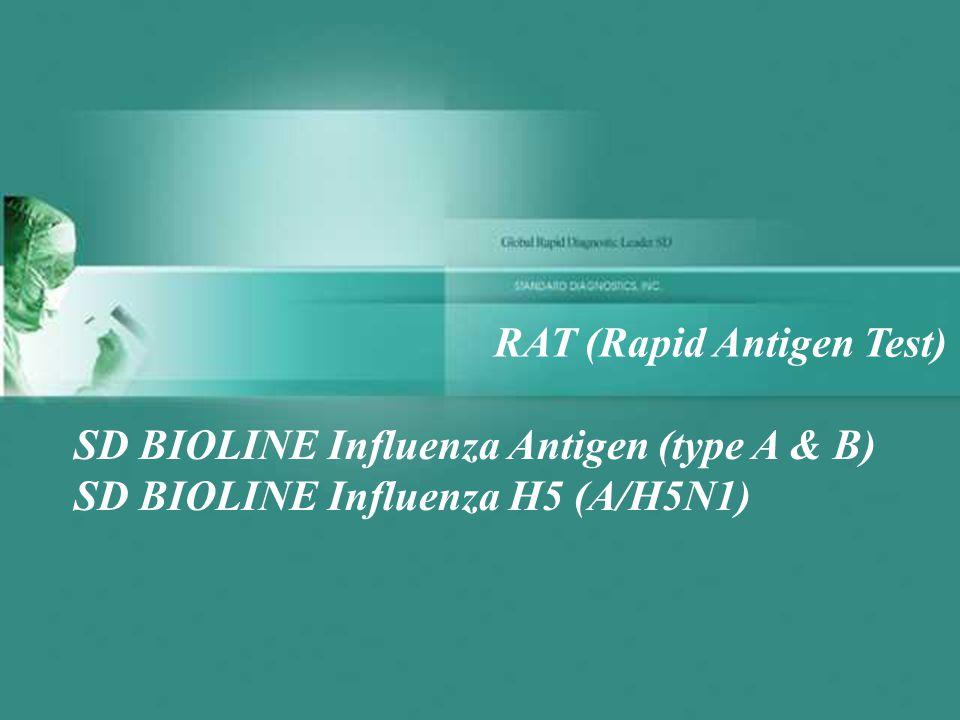 SD BIOLINE Influenza Antigen (type A & B) SD BIOLINE Influenza H5 (A/H5N1) RAT (Rapid Antigen Test)