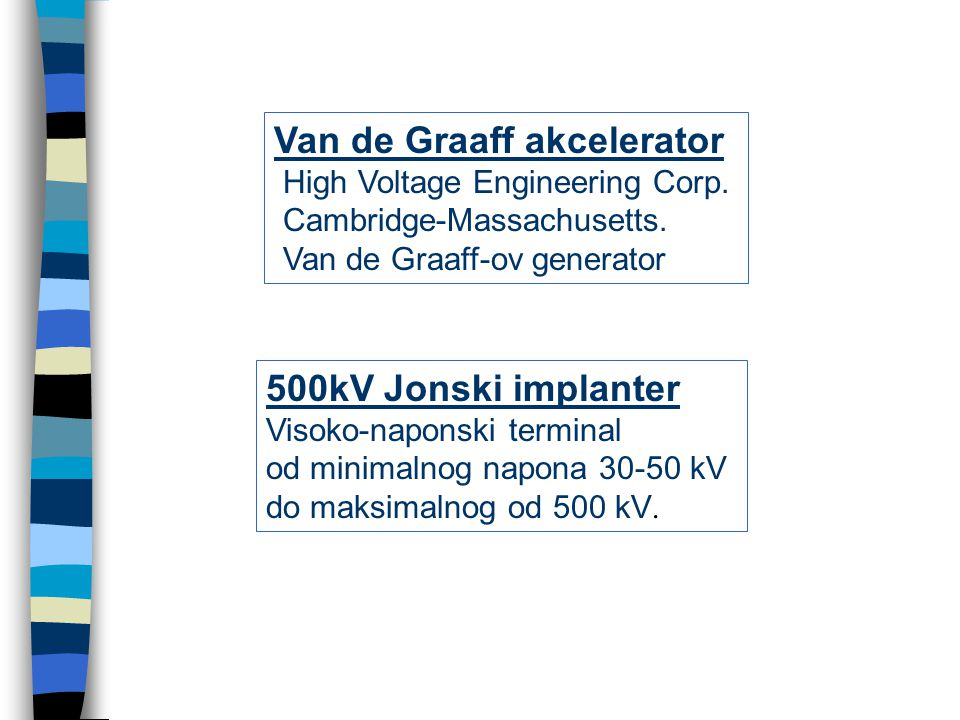 Van de Graaff akcelerator High Voltage Engineering Corp.