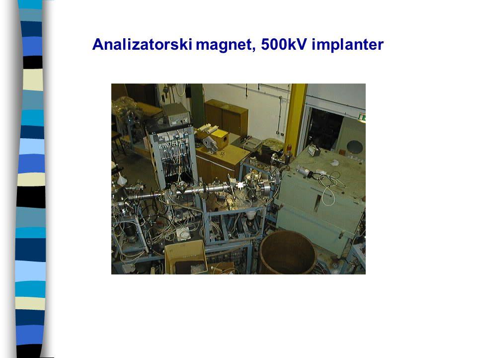 Analizatorski magnet, 500kV implanter