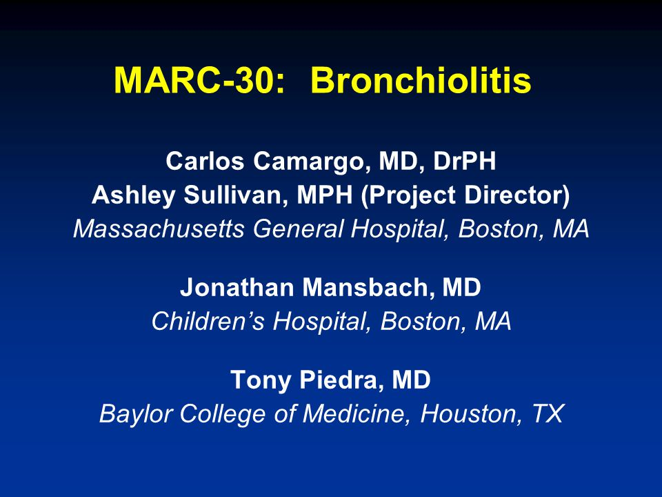 Slide 12 Interviewed for bronchiolitis study during an earlier visit Parents do not agree to the collection of the NPA specimen or to possible future use of the specimen Patient transferred to your hospital >48 hours after the time of admission at another hospital Exclusion Criteria