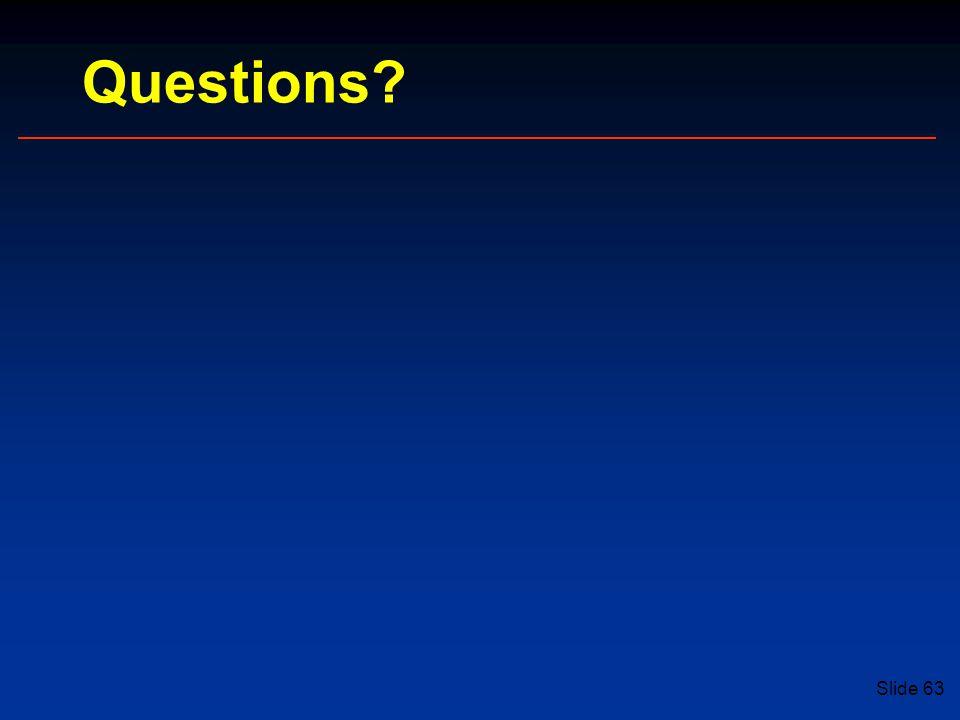 Slide 63 Questions
