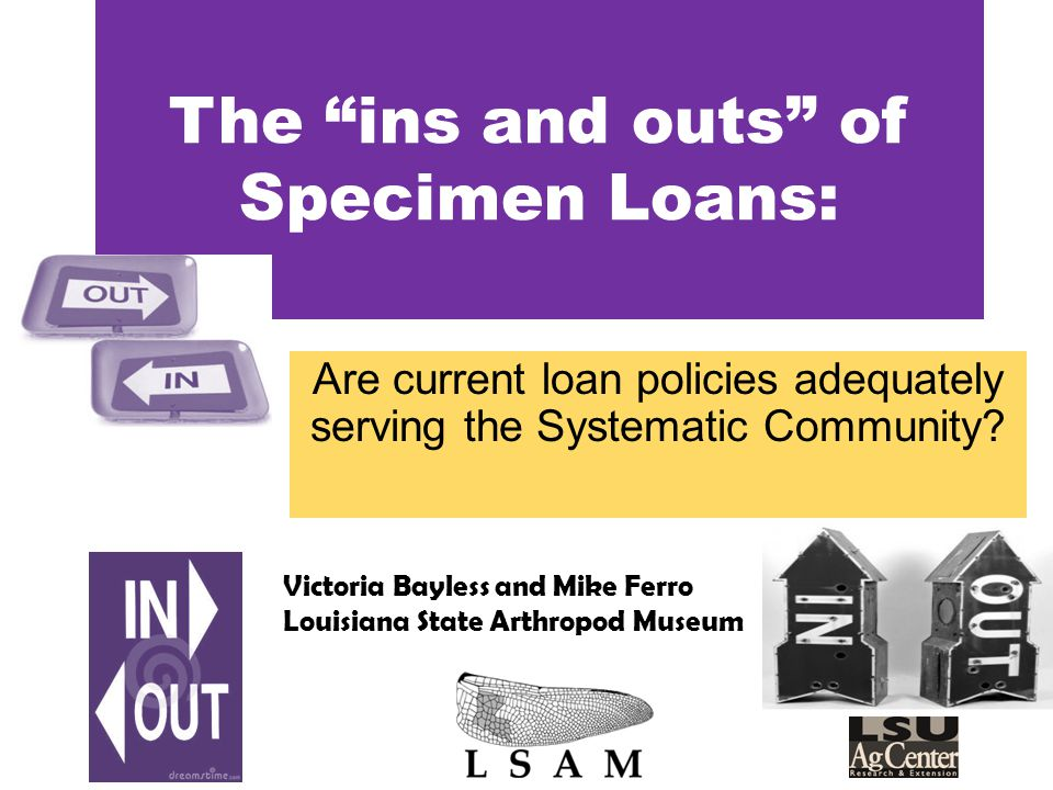 The ins and outs of Specimen Loans: Are current loan policies adequately serving the Systematic Community.
