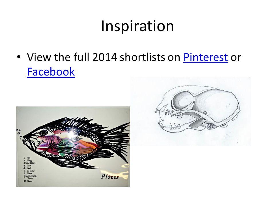 Inspiration View the full 2014 shortlists on Pinterest or FacebookPinterest Facebook