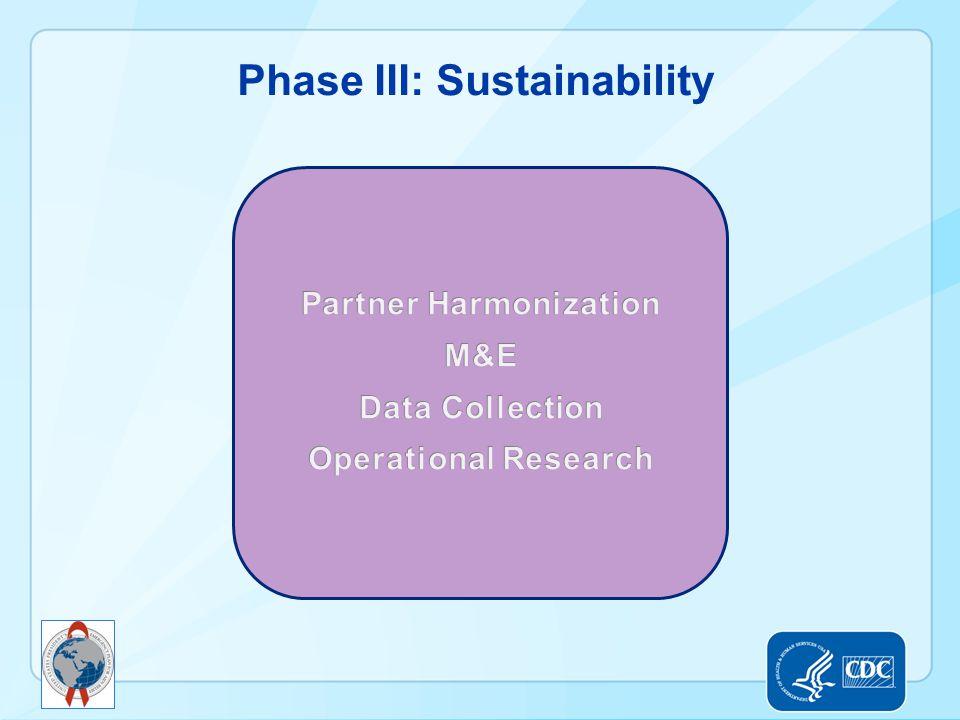 Phase III: Sustainability