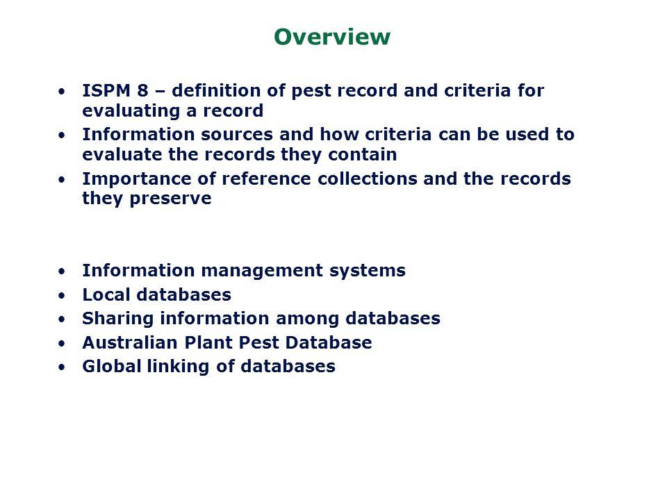 International Standards for Phytosanitary Measures (ISPMs) ISPM 3.