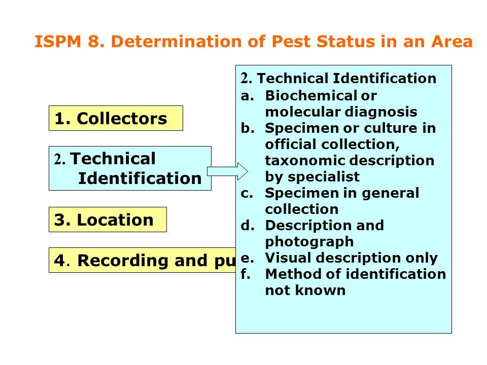 Pest Information Sources Specimen information 1.Collectors 2.