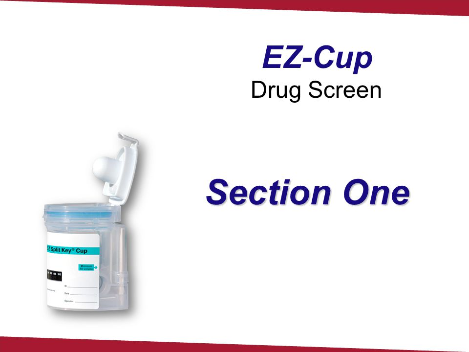 EZ-Cup Drug Screen Section One