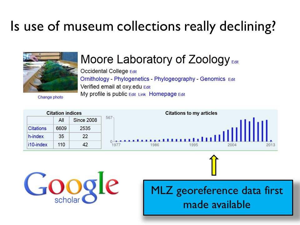 Is use of museum collections really declining? MLZ georeference data first made available