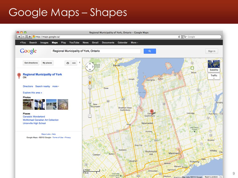 Google Maps – Shapes Georeferencing workshop - Online resources - 2011.05.21 9