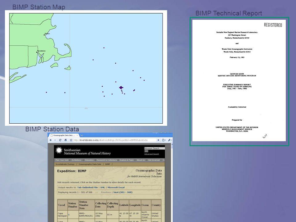 BIMP Technical Report BIMP Station Data BIMP Station Map