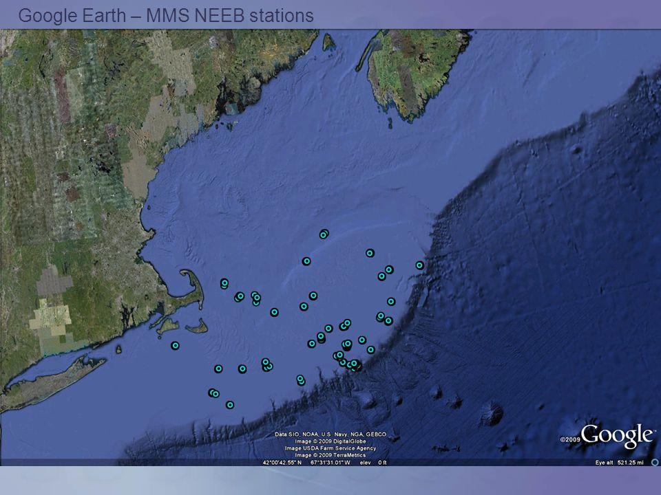 Google Earth – MMS NEEB stations