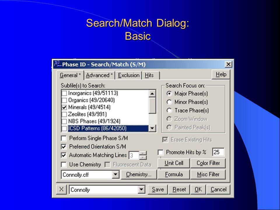 Search/Match Dialog: Basic
