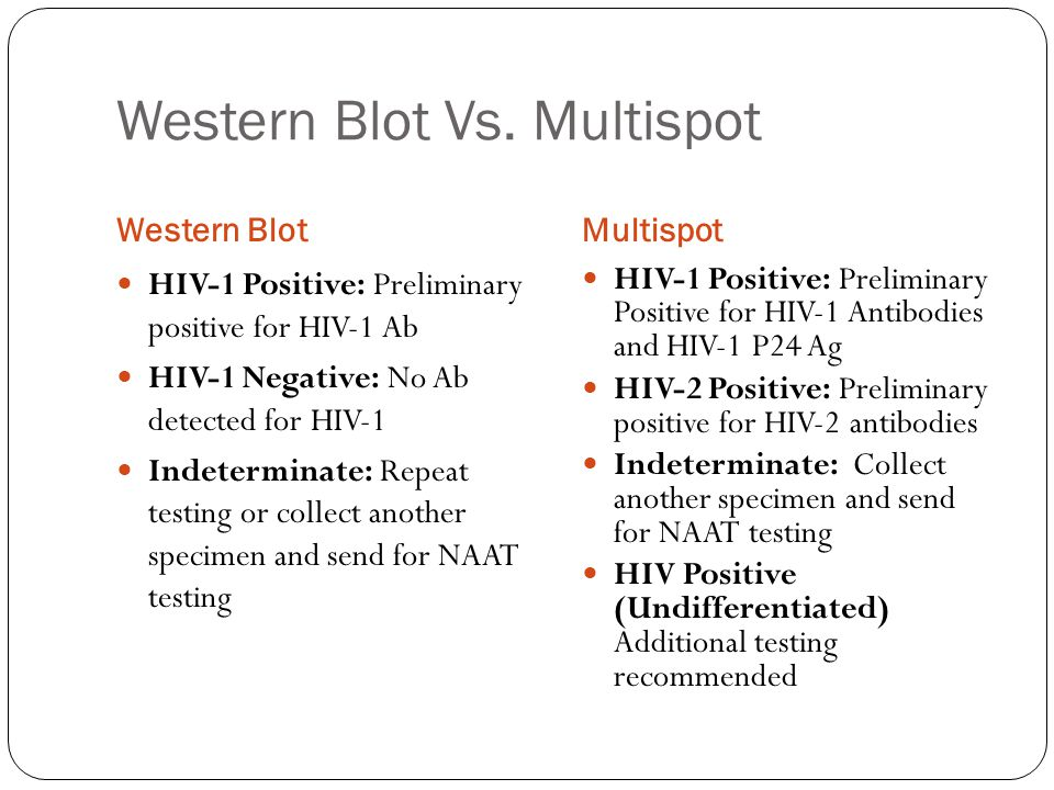 Limitations of Current Algorithm Antibody tests do not detect infection in ~10% of infected persons at highest risk of transmission Cannot detect acute infections and misclassifies approximately 60% of HIV-2 infections as HIV-1, based on HIV-1 WB results.