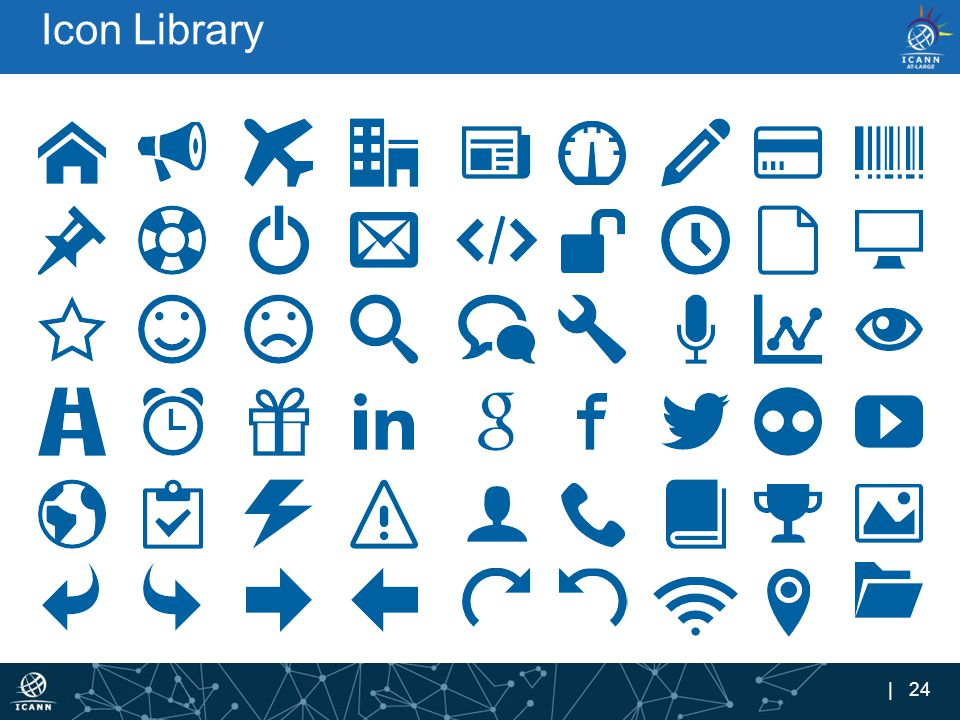 | 24 Icon Library