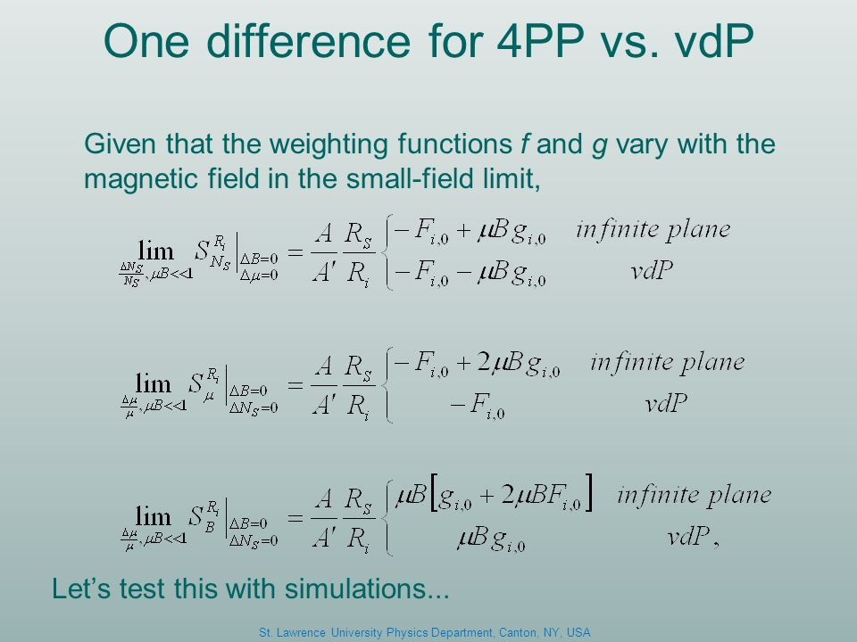One difference for 4PP vs.