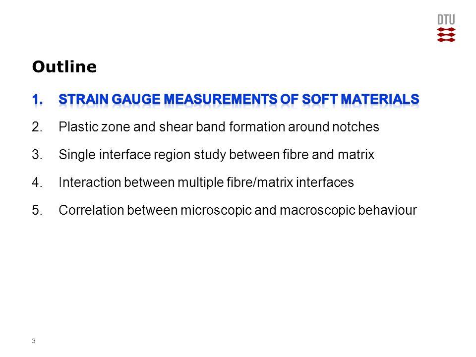 Add Presentation Title in Footer via Insert ; Header & Footer 2 D model2 D model MODELLING FEATURES: -SG: uniform foil with ½ thickness (2D), elastic- plastic, back-to-back SGs -Specimen: ¼ symmetry (3D), elastic, elastic- plastic -Parts: solid, homogeneous, deformable -Elements: plane stress & 3D stress -Load: displacement boundary 3 D model 14