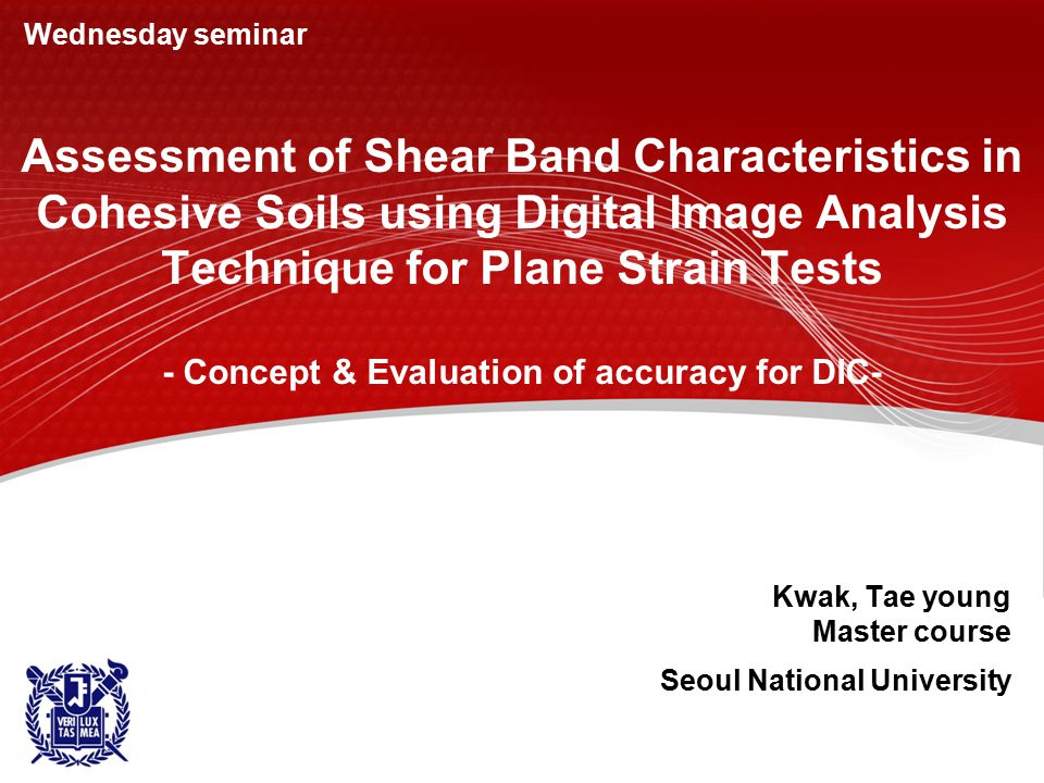 Assessment of Shear Band Characteristics in Cohesive Soils using Digital Image Analysis Technique for Plane Strain Tests - Concept & Evaluation of acc