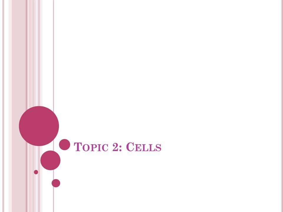 T OPIC 2: C ELLS