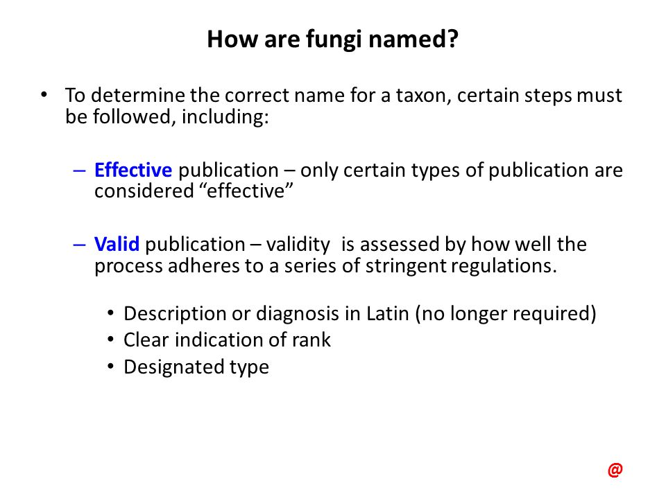 How are fungi named.