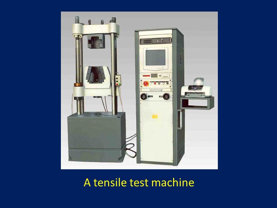 A tensile test machine