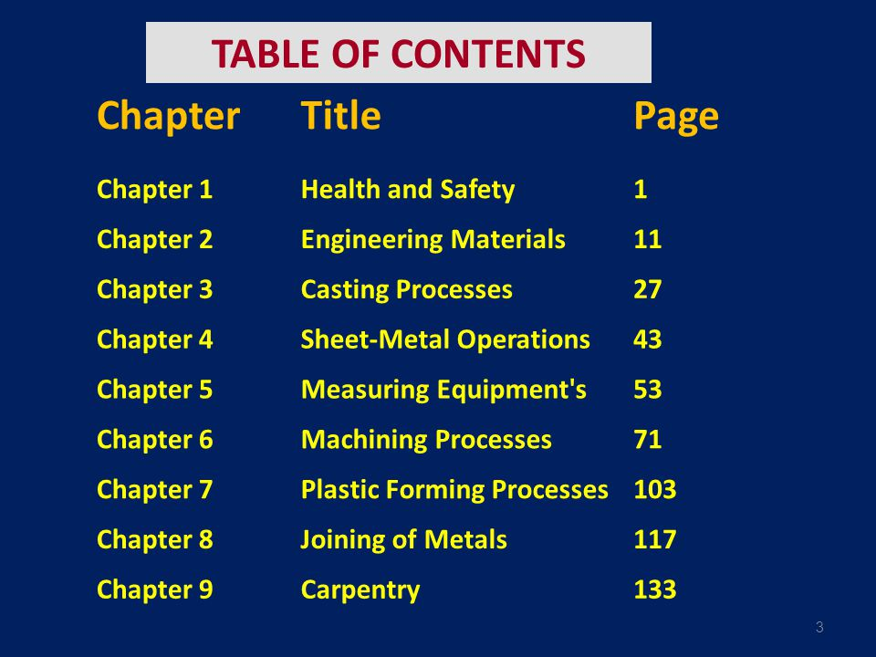 3 TABLE OF CONTENTS