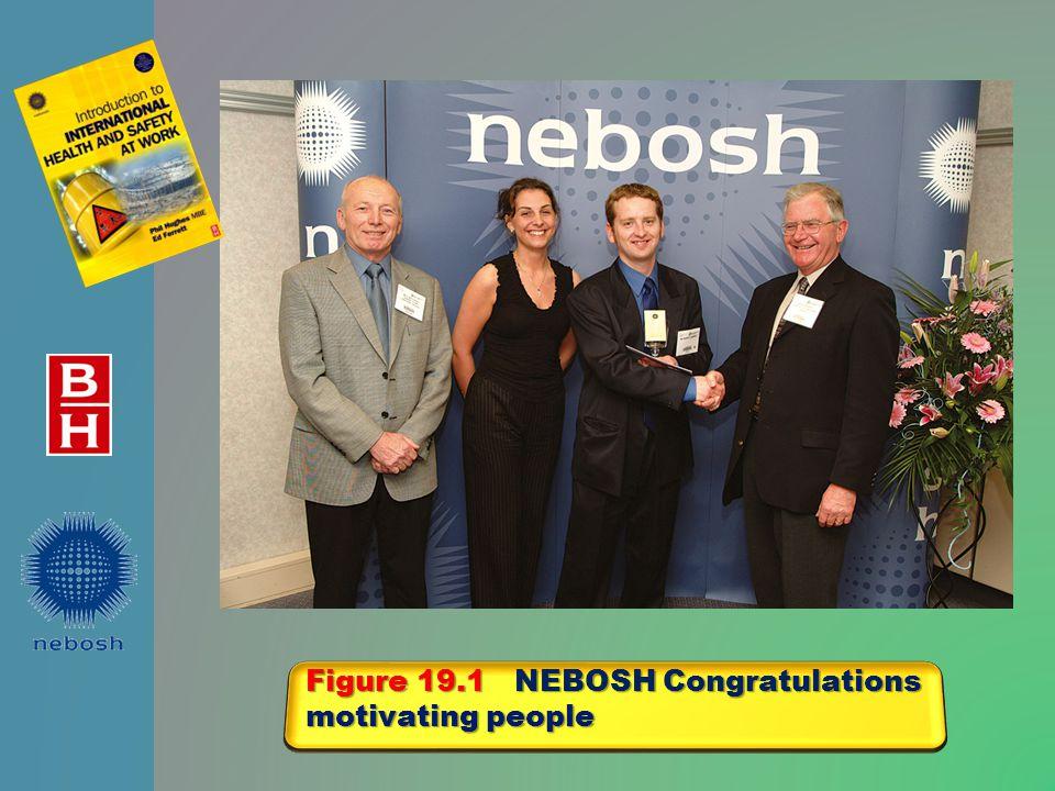 Figure 19.1 NEBOSH Congratulations motivating people