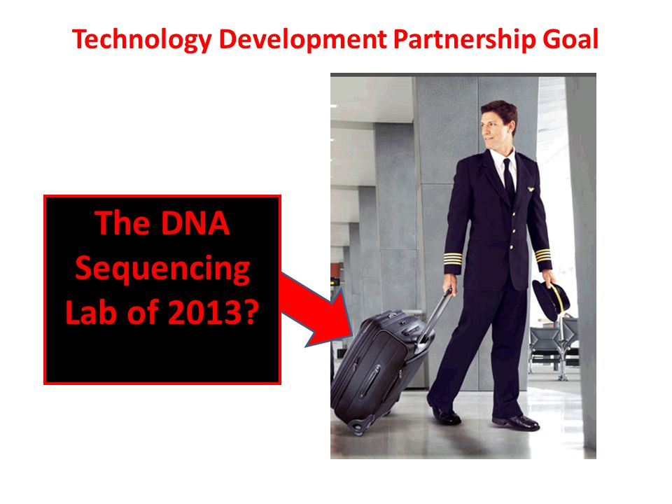 Technology Development Partnership Goal The DNA Sequencing Lab of 2013