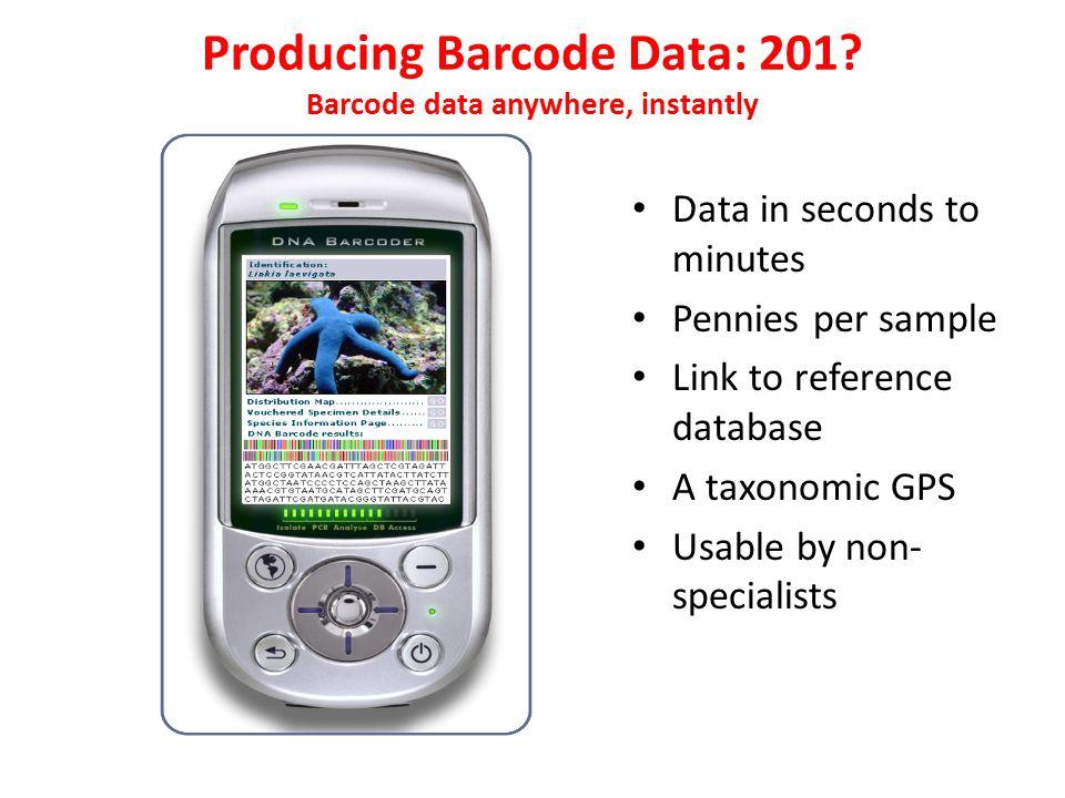 Producing Barcode Data: 201.