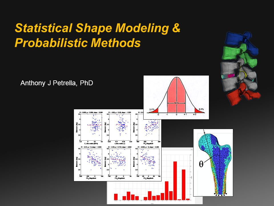 Anthony J Petrella, PhD Statistical Shape Modeling & Probabilistic Methods 