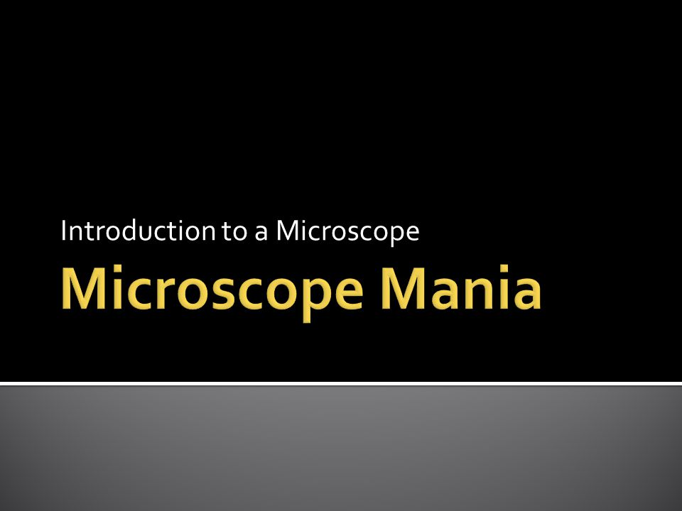 Introduction to a Microscope