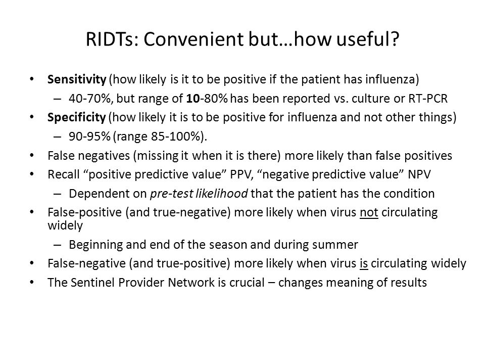 RIDTs: Convenient but…how useful.