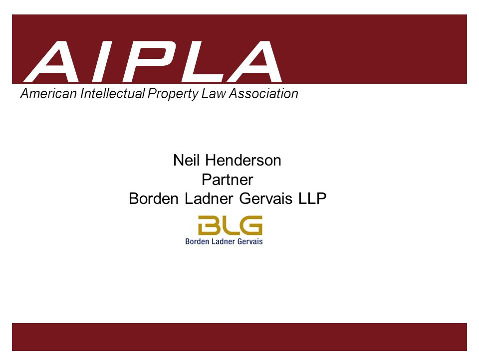 11 AIPLA Firm Logo 11 Motion (Moving Images) Marks Typically composed of graphic images Meeting requirements of distinctiveness and functionality typically less problematic Consistent display of the motion is required