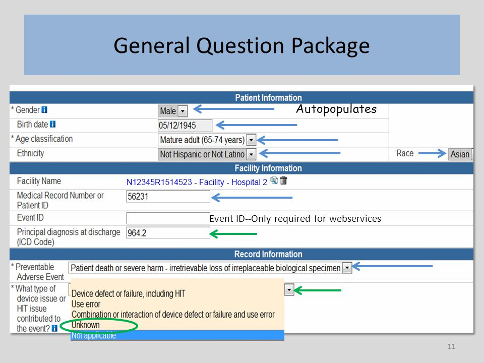 11 General Question Package Autopopulates Event ID--Only required for webservices