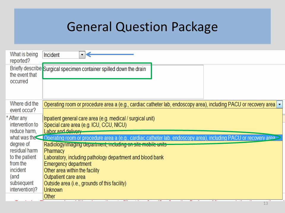13 General Question Package