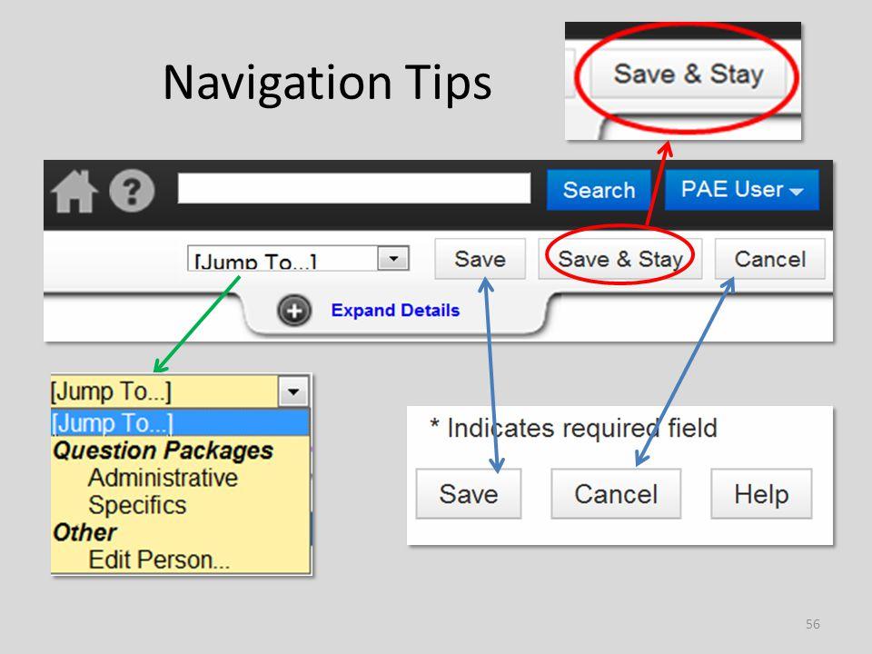 Navigation Tips 56