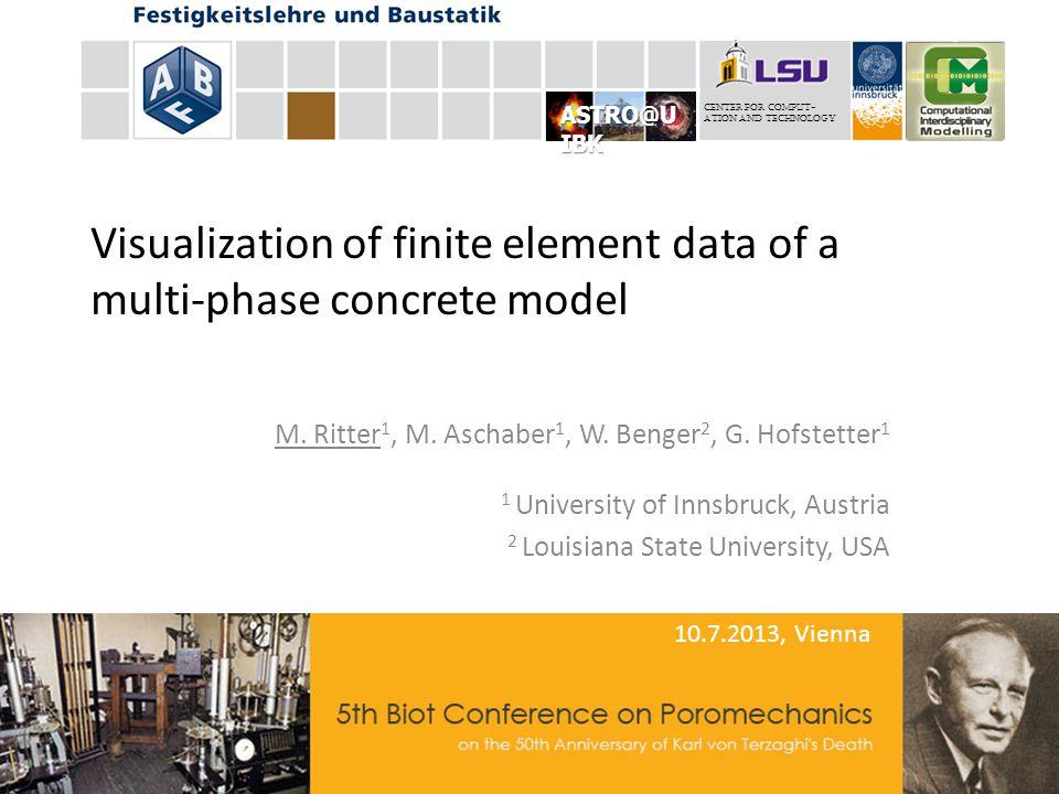Visualization of finite element data of a multi-phase concrete model M.