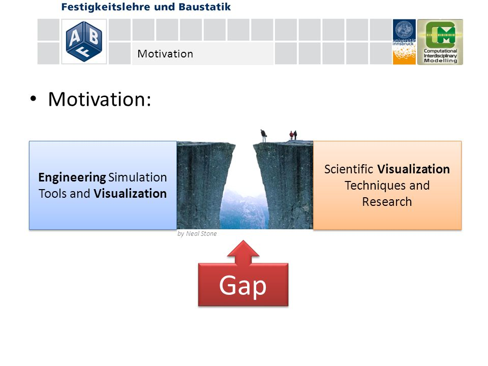 Motivation: by Neal Stone Scientific Visualization Techniques and Research Engineering Simulation Tools and Visualization Gap Motivation