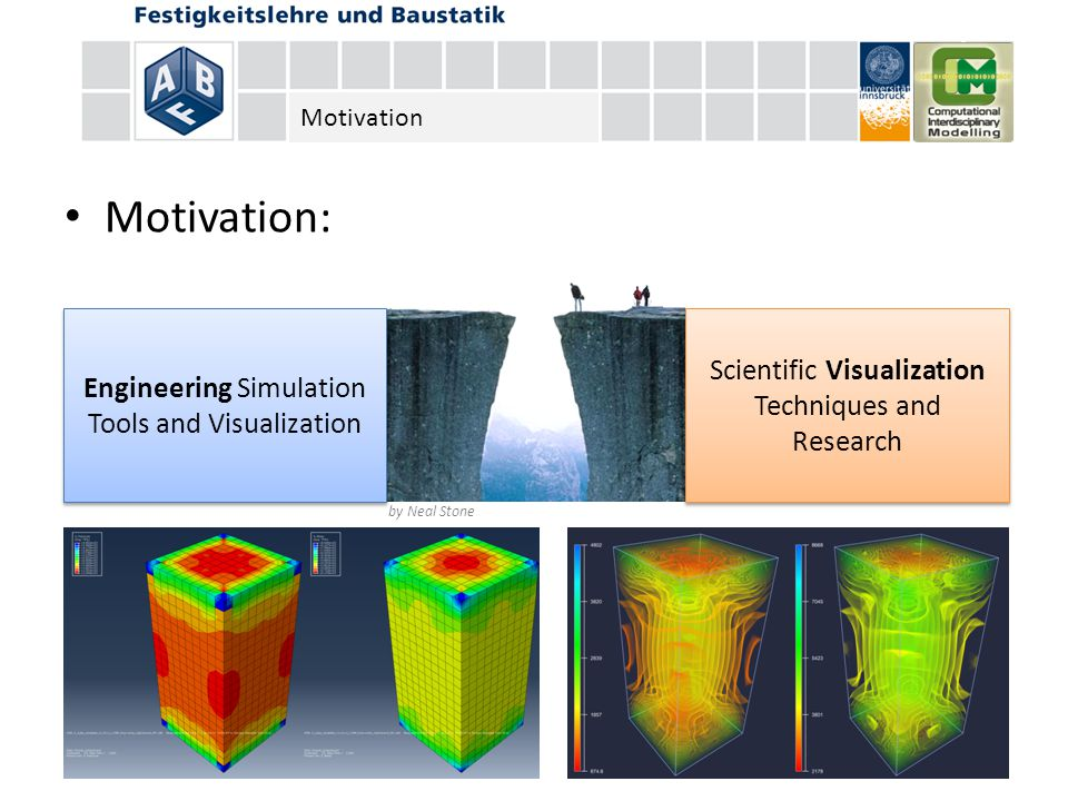 Motivation: by Neal Stone Scientific Visualization Techniques and Research Engineering Simulation Tools and Visualization Motivation