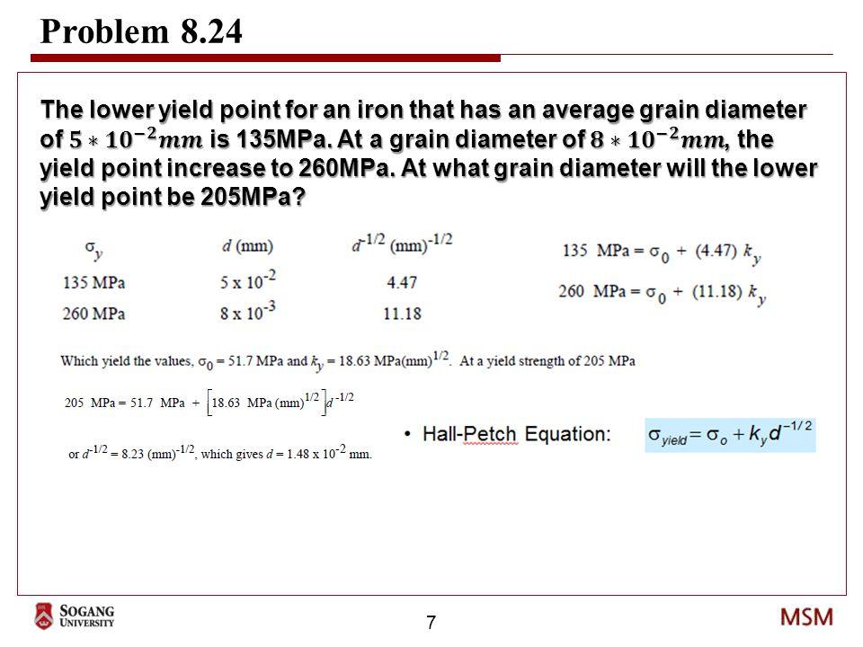 7 Problem 8.24