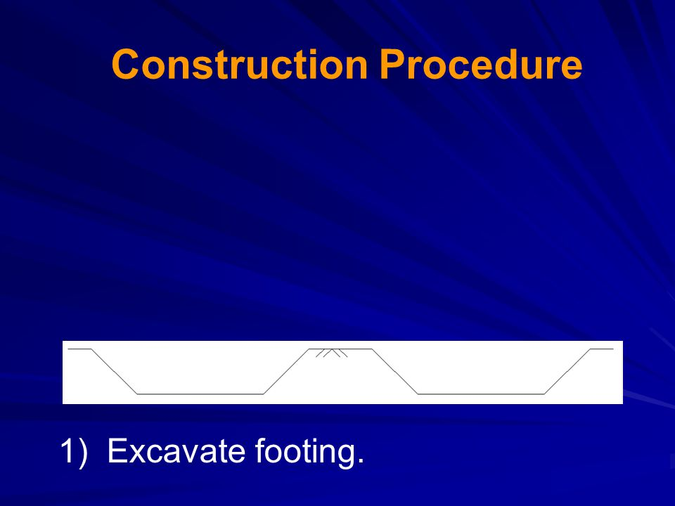 2) Position and brace precast column. Construction Procedure