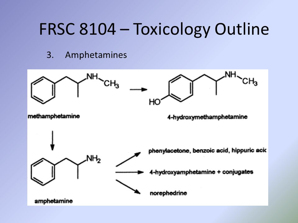 FRSC 8104 – Toxicology Outline 3.Amphetamines