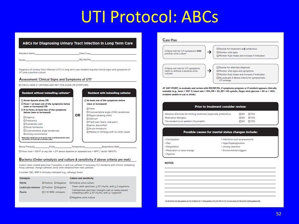 UTI Protocol: ABCs 52