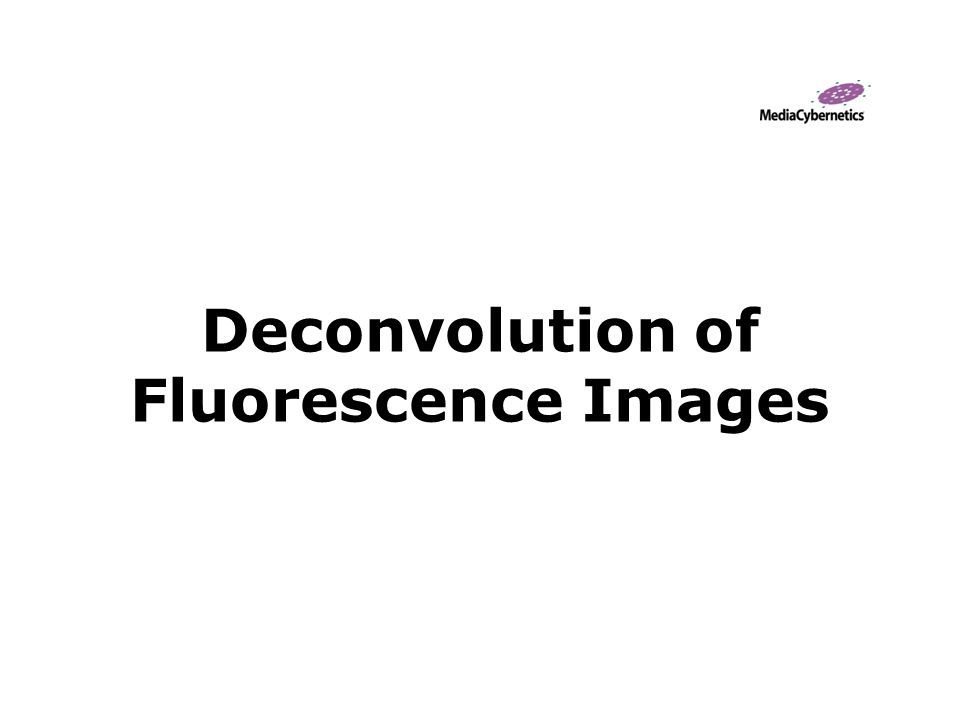 Deconvolution of Fluorescence Images