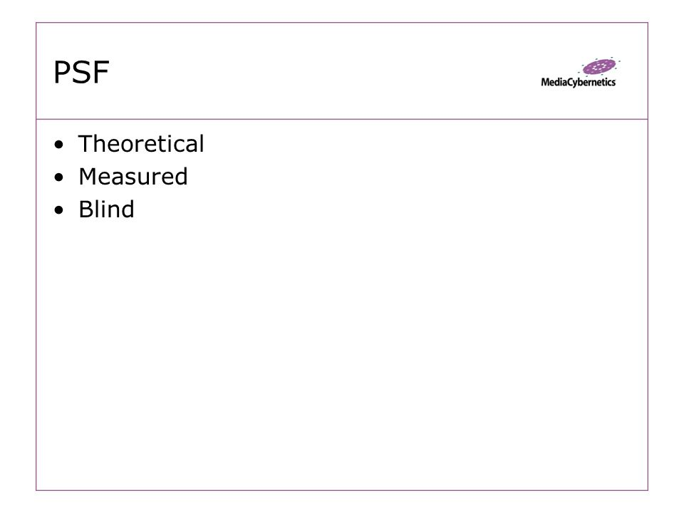 PSF Theoretical Measured Blind