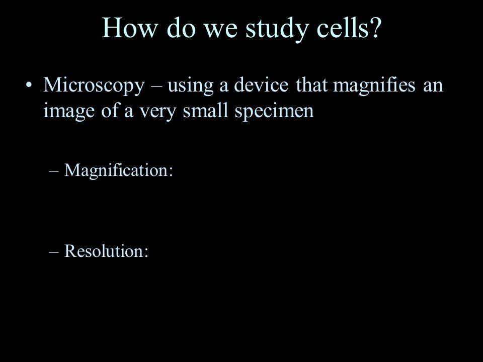 How do we study cells.