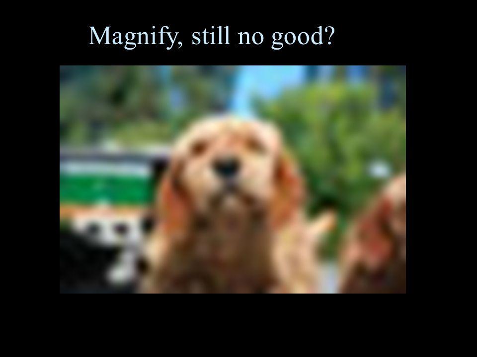 Magnify, still no good